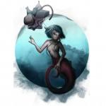 Meerjungfrau am Hacken