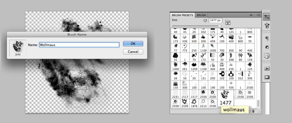 Brushes erstellen mit Photoshop 11
