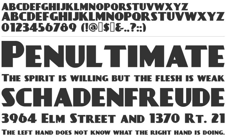 DAYPOSTERBLACK retro font
