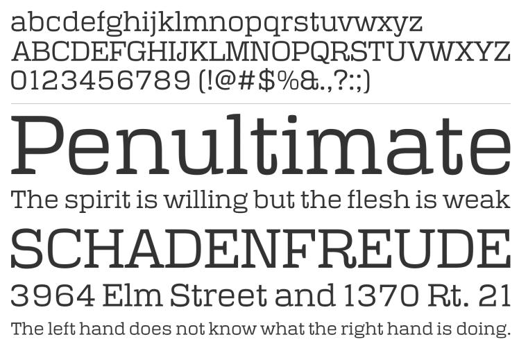 Typeface Polaris retro font