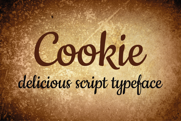 cookie-font- retro font