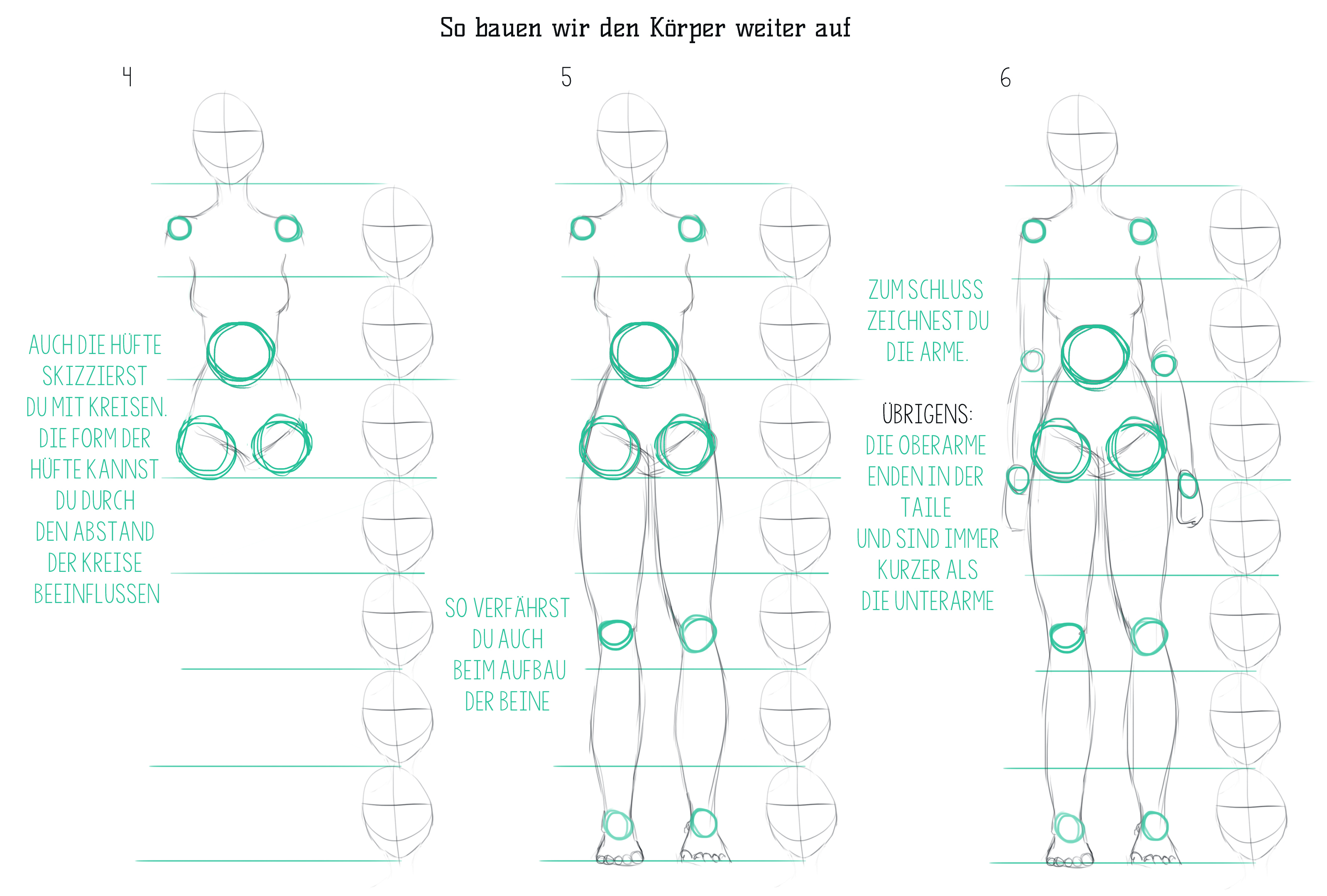 weibliche Körper zeichnen - so mache ich es Teil 1 - Zeichne und ...