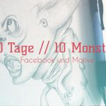 neue Motive zum Zeichnen finden //  10 Monster in 10 Tage