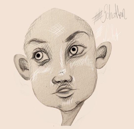 Schatten Gesicht zeichnen