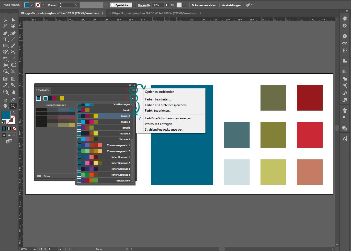 Vektorgrafiken colorieren 2