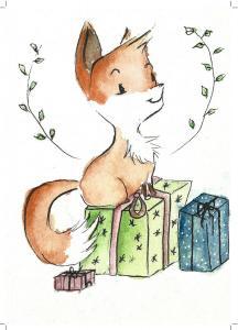 Fuchs weichnachtenkarte