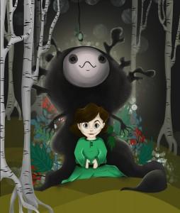 Mädchen im Wald fin Kopie
